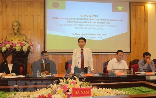 Estudia Bangladesh experiencias sobre gestion administrativa en provincia vietnamita de Ha Nam hinh anh 1
