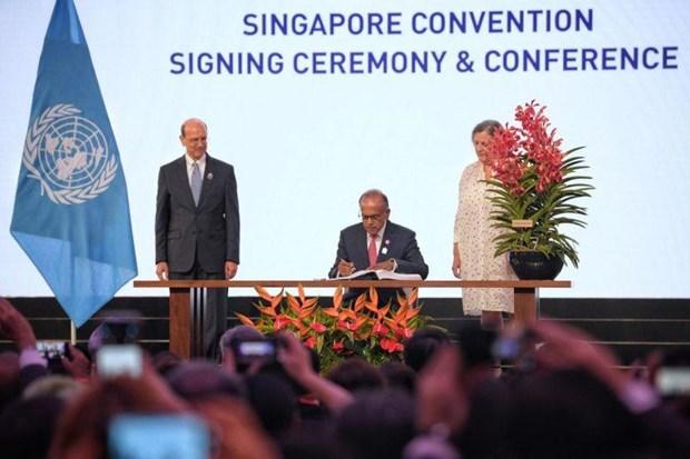 Firman en Singapur convencion sobre la mediacion hinh anh 1