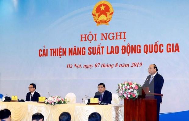 Preside primer ministro de Vietnam conferencia sobre productividad laboral nacional hinh anh 1