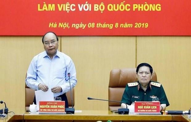 Premier de Vietnam elogia uso del terreno con fines de defensa para produccion hinh anh 1