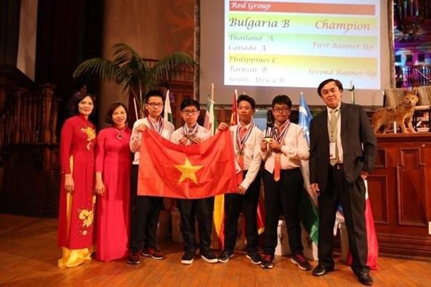 Vietnam entre los cinco mejores en Competencia Internacional de Matematicas 2019 hinh anh 1
