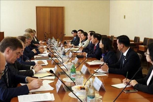 Delegacion del Ministerio del Interior de Vietnam visita Rusia hinh anh 1