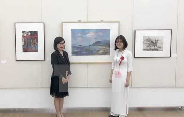 Exhiben obra de alumna vietnamita en Museo de Bellas Artes de Japon hinh anh 1