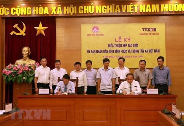 Apoya Agencia Vietnamita de Noticias desarrollo de la provincia de Vinh Phuc hinh anh 1