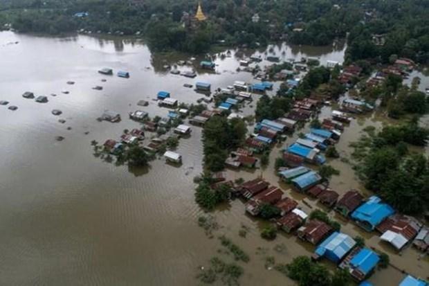 Decenas de miles de desplazados por inundaciones en Myanmar hinh anh 1