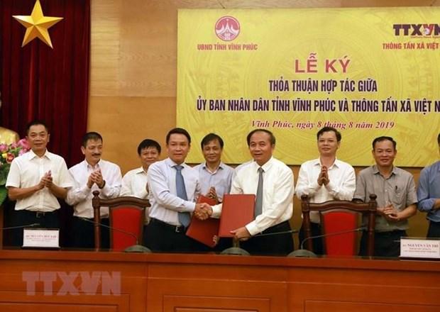 Apoya Agencia Vietnamita de Noticias desarrollo de la provincia de Vinh Phuc hinh anh 2