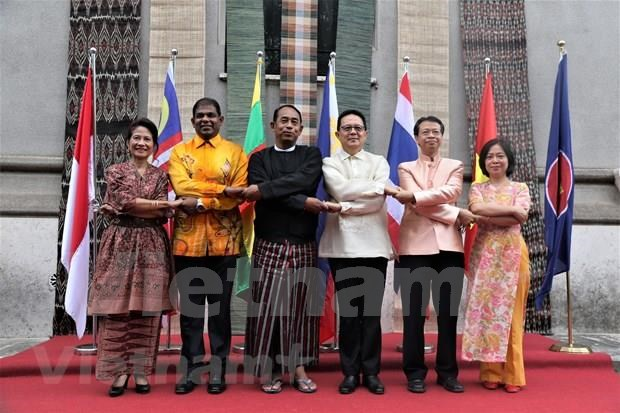 Celebran en Sudafrica, Ucrania e Italia 52 aniversario de fundacion de la ASEAN hinh anh 1