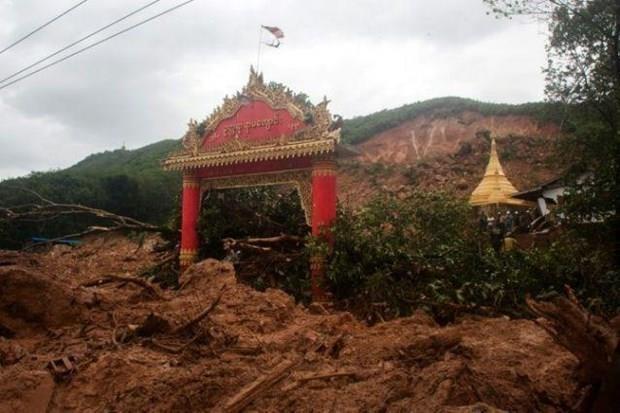Mueren 15 personas por deslave de tierra en Myanmar hinh anh 1