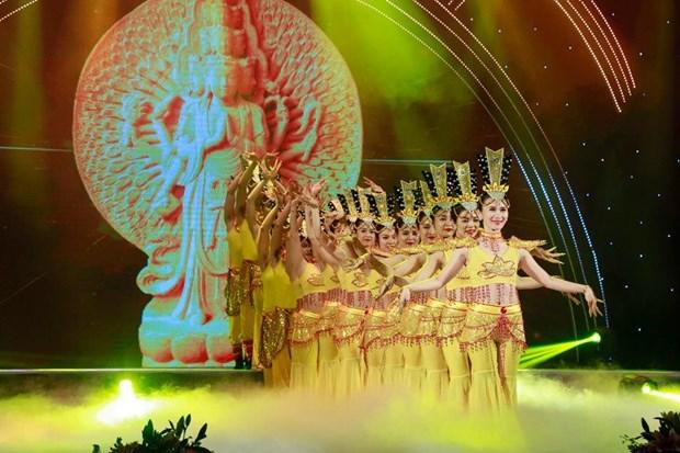 Efectuan en Hanoi programa artistico en ocasion de ceremonia budista Vu Lan hinh anh 1