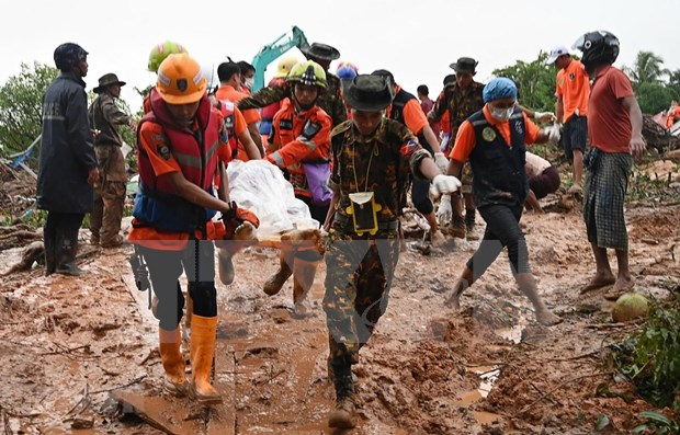 Lluvias monzonicas en Myanmar provocan 48 muertos hinh anh 1