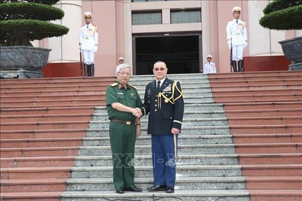Recibe viceministro vietnamita de Defensa a agregado militar de Estados Unidos hinh anh 1