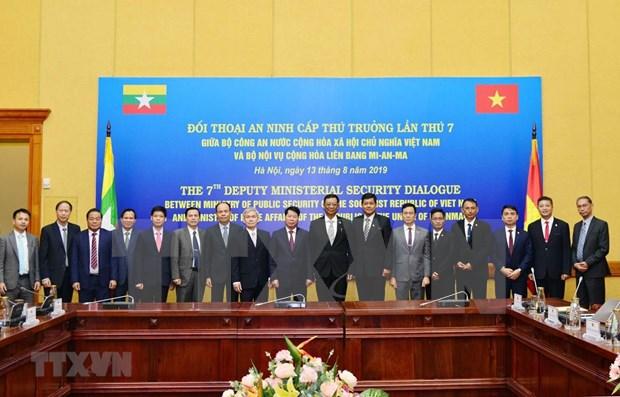 Fuerzas policiacas Vietnam y Myanmar robustecen colaboracion hinh anh 1