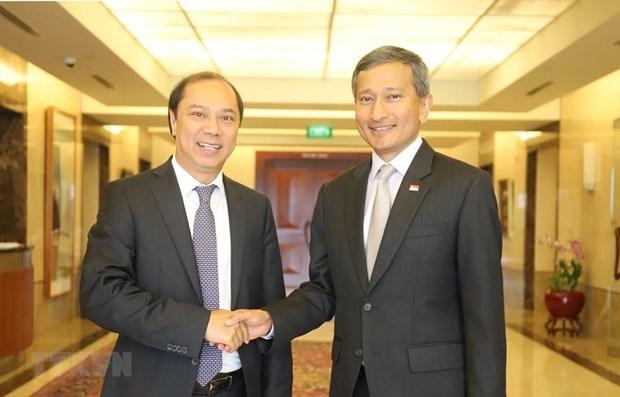 Robustecen Vietnam y Singapur la asociacion estrategica hinh anh 1