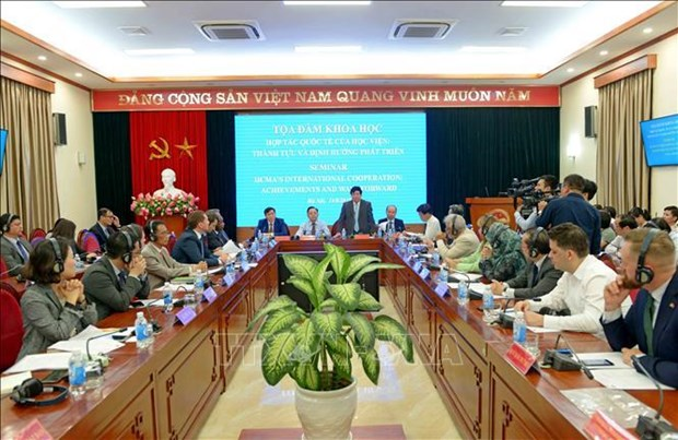 Fortalece Academia Nacional de Politica Ho Chi Minh cooperacion internacional hinh anh 1