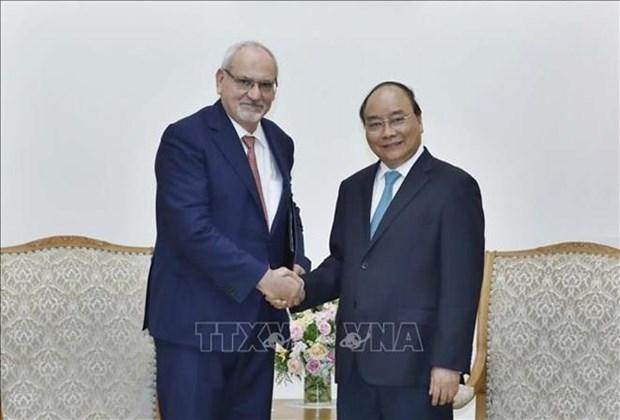 Dirigentes vietnamitas reciben a ejecutivo de Corporacion Financiera Internacional hinh anh 1