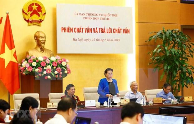 Inicia Comite Permanente del Parlamento vietnamita sesiones de interpelacion hinh anh 1