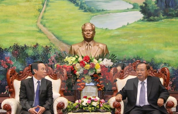 Robustecen Vietnam y Laos nexos partidistas hinh anh 1