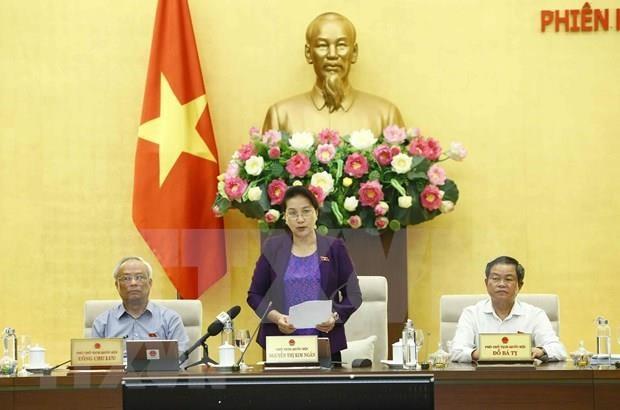 Concluyo el XXXVI periodo de sesiones del Comite Permanente de Parlamento vietnamita hinh anh 1