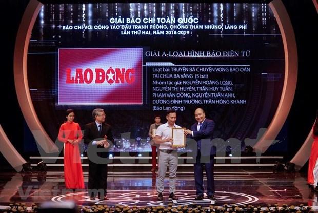 Destaca premier de Vietnam papel de la prensa en lucha anticorrupcion hinh anh 1