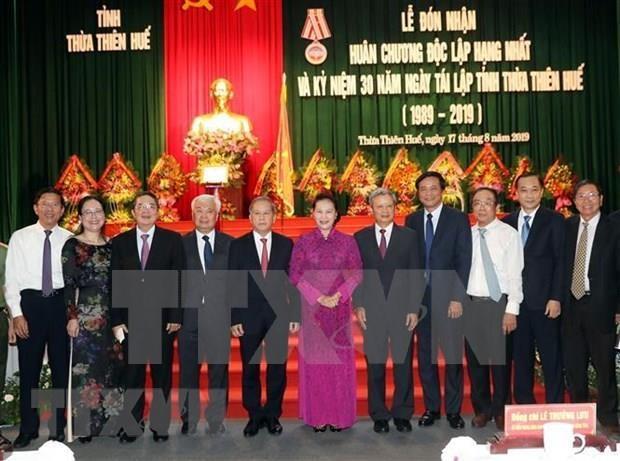 Provincia vietnamita de Thua Thien-Hue celebra aniversario de su restablecimiento hinh anh 1