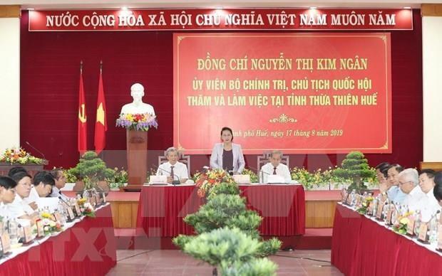 Visita presidenta del Parlamento a provincia vietnamita Thua Thien-Hue hinh anh 1
