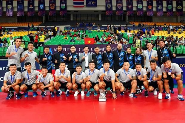 Gana Vietnam medalla de bronce en Campeonato Asiatico de Futsal 2019 hinh anh 1