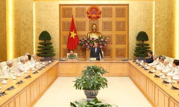 Honra premier de Vietnam a expolicias en el frente del sur hinh anh 1