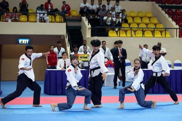 Vietnam cosecha 35 medallas de oro en campeonato regional de taekwondo hinh anh 1