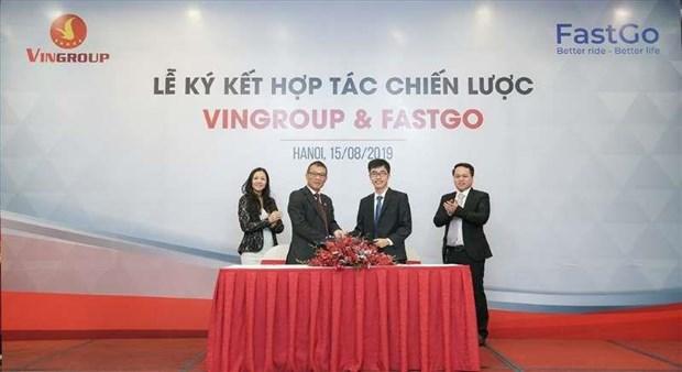 Empresa vietnamita VinFast se incorpora a servicio digital de transporte hinh anh 1