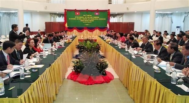 Inauguran reunion de altos funcionarios del Comite de Cooperacion Vietnam-Camboya hinh anh 1