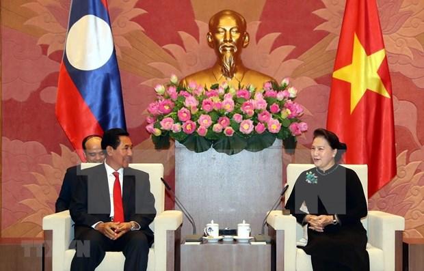 Robustecen cooperacion entre parlamentos entre Vietnam y Laos hinh anh 1