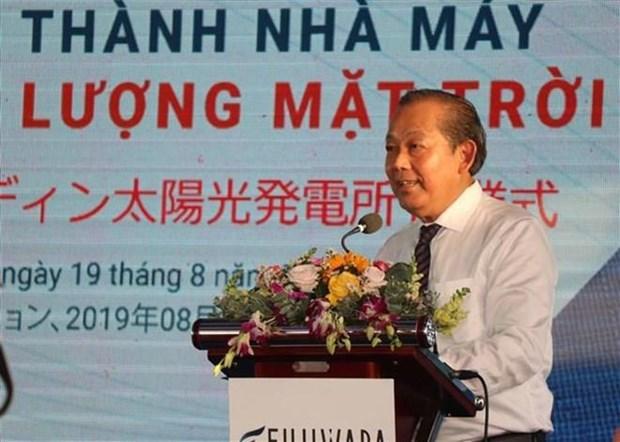 Inauguran planta fotovoltaica japonesa en provincia central de Vietnam hinh anh 1