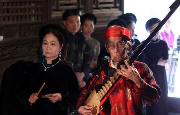 Promueven en Bac Ninh canto ceremonial Ca Tru, Patrimonio Cultural Intangible de la Humanidad hinh anh 1