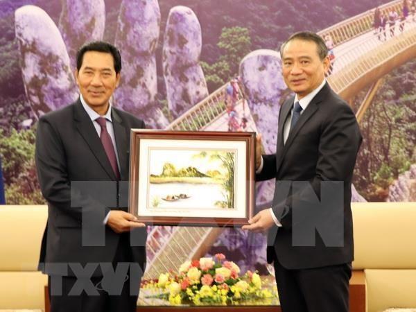 Vicepresidente de Asamblea Nacional de Laos visita Da Nang hinh anh 1
