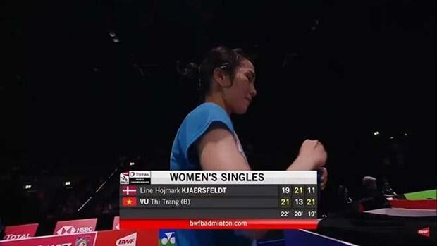 Logra badmintonista vietnamita victoria en Campeonato Mundial de Badminton hinh anh 1