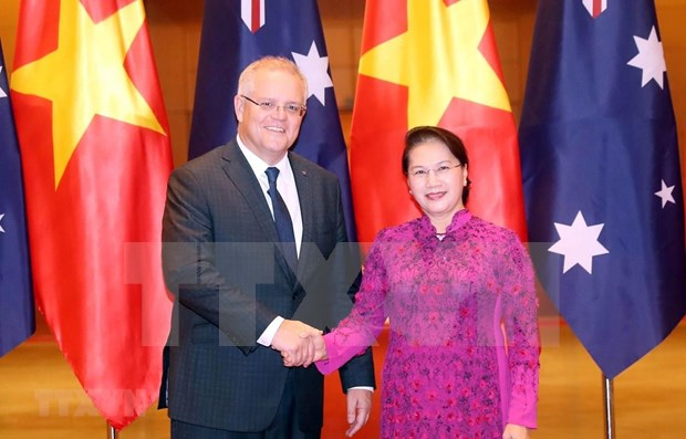 Presidenta de Asamblea Nacional de Vietnam se reune con premier australiano hinh anh 1