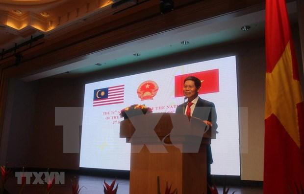 Celebra Embajada de Vietnam en Malasia Dia Nacional hinh anh 1