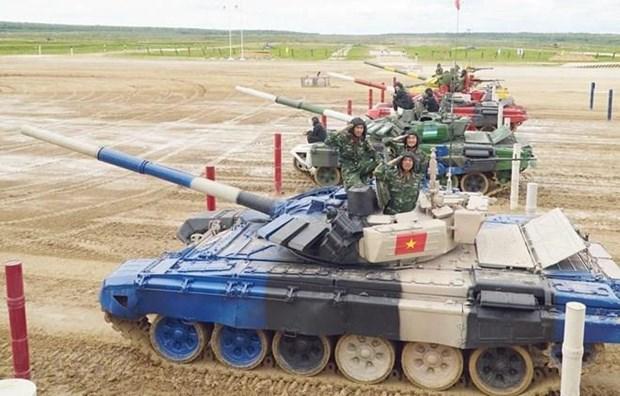 Honran en Vietnam destacados equipos nacionales participantes en Juegos Militares Internacionales 2019 hinh anh 1