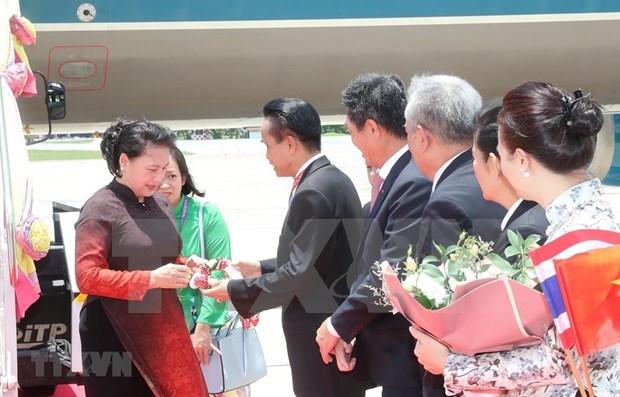 Llega presidenta de Vietnam a Tailandia para asistir a Asamblea General 40 de AIPA hinh anh 1