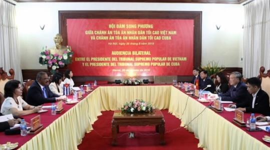 Aspira Cuba a intercambiar experiencias judiciales con Vietnam hinh anh 1