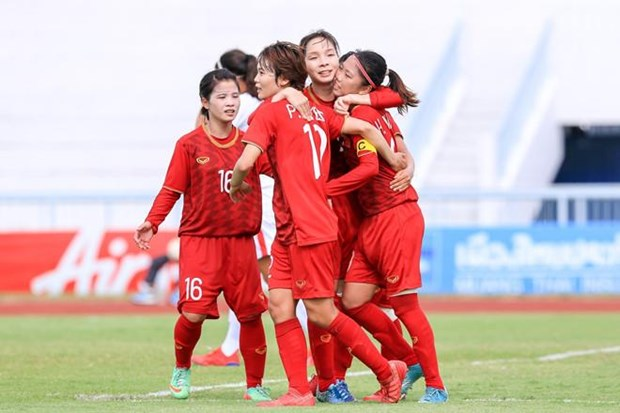 Avanza Vietnam a la final del Campeonato de Futbol femenino del Sudeste Asiatico 2019 hinh anh 1