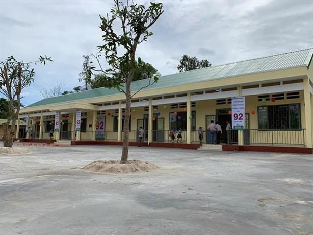 Financia empresa estadounidense construccion de escuelas en Vietnam hinh anh 1