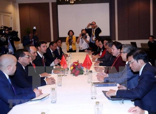 Presidenta del Parlamento vietnamita se reune con su homologo marroqui hinh anh 1