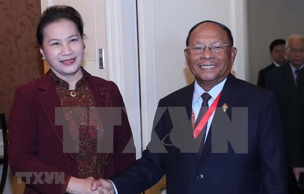 Robustecen nexos entre Parlamentos de Vietnam y Camboya hinh anh 1