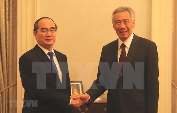 Aspira Singapur a promover cooperacion integral con Ciudad Ho Chi Minh hinh anh 1