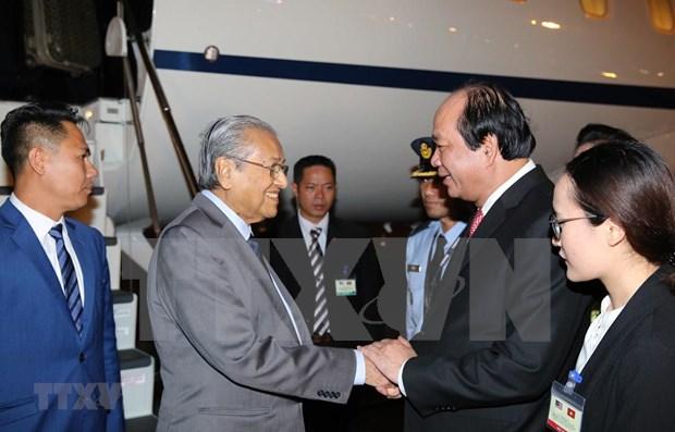Primer ministro de Malasia inicia visita oficial a Vietnam hinh anh 1