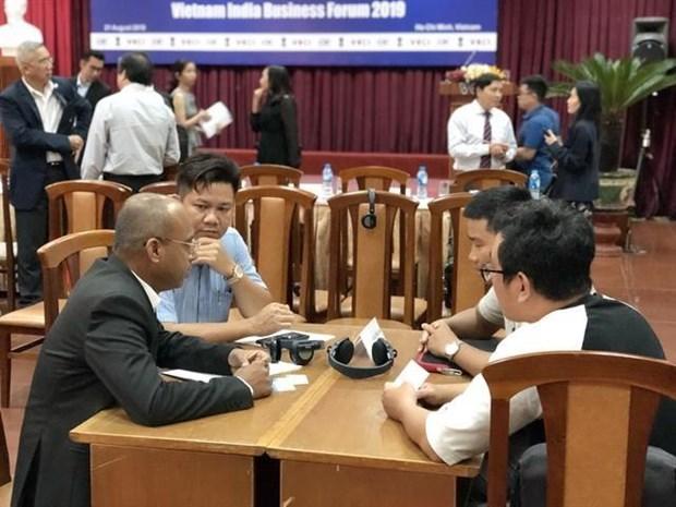 Proyectan Vietnam y la India intercambio comercial de 15 mil millones de dolares hinh anh 1