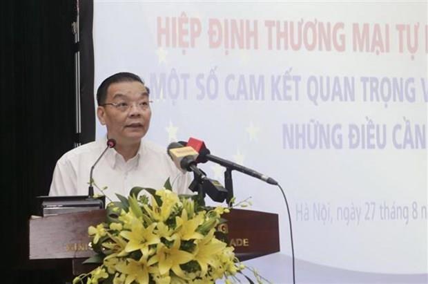 Tratan en Vietnam compromisos de la propiedad intelectual del TLC con la UE hinh anh 1