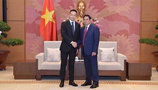 Invita Parlamento vietnamita a jovenes diputados japoneses a visitar el pais en enero proximo hinh anh 1