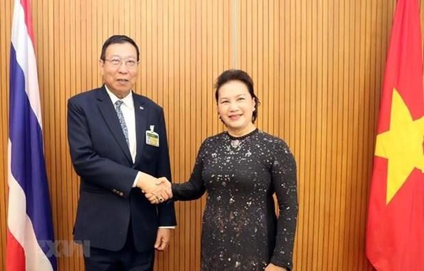 Presidenta legislativa se entrevista con titular del Senado tailandes hinh anh 1